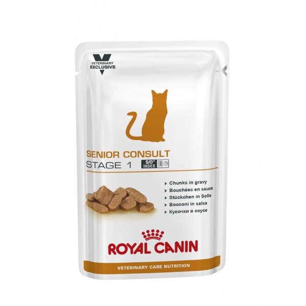 Royal Canin Veterinary Diet (Feline) - Senior Consult Stage 1 Pouch 100g