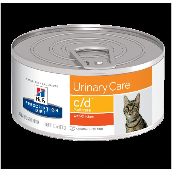 Hill's Prescription Diet (Feline) - c/d Multi Urinary Care Chicken Canned 5.5oz