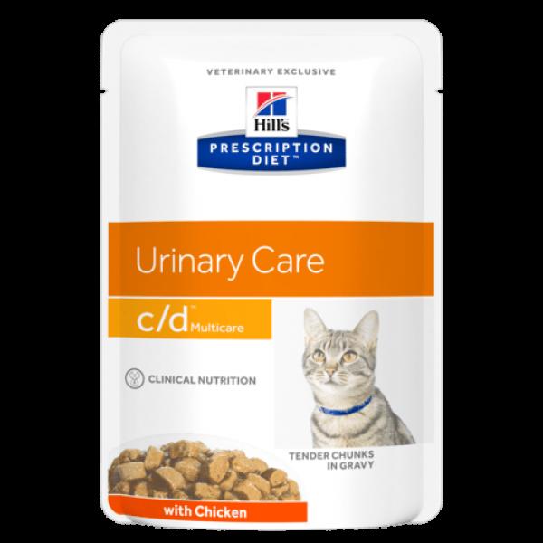 Hill's Prescription Diet (Feline) - c/d Pouch (chicken) 85g